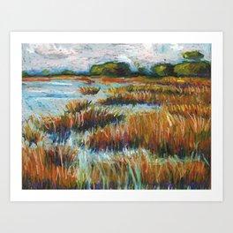 Cape Fear Estuary Art Print