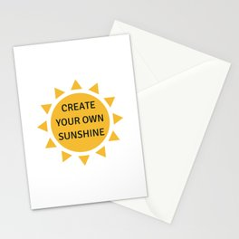 CREATE YOUR OWN SUNSHINE Stationery Cards