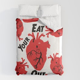 Eat Your Heart Out Duvet Cover