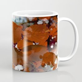 Branches in burgundy and bronze - Seamless fall leaf pattern Coffee Mug