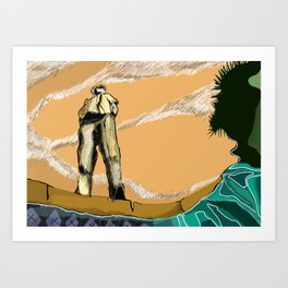 Breaking Bad (Hector Salamanca) Art Print