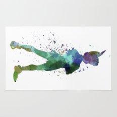 Peter Pan in watercolor Rug
