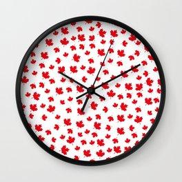Canada Maple Leaf-White Wall Clock