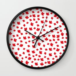 Canada Maple Leaf-White Wall Clock
