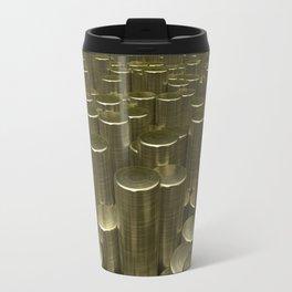 Pattern of brushed gold cylinders Travel Mug