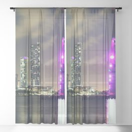 Downtown Miami Sheer Curtain