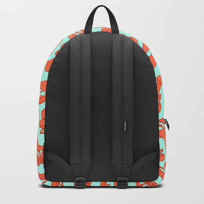 Lobster addiction pattern Backpack