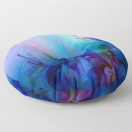 Sunset Painterly Floral Floor Pillow