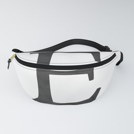 Letter E Initial Monogram Black and White Fanny Pack