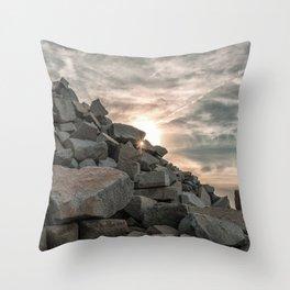 Rocks sky and sea Throw Pillow