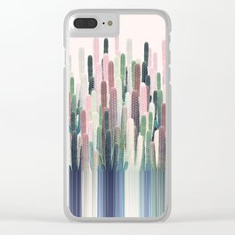 Cacti Stripe Pastel Clear iPhone Case