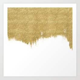 White & Gold Art Print