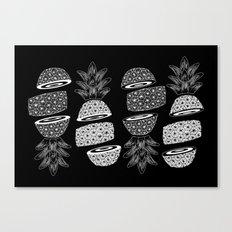 Pineapples (Dark/Sliced) Canvas Print