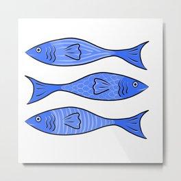Minoan style fish ancient Greek design Metal Print