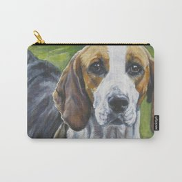 English Foxhound dog art portrait from an original painting by L.A.Shepard Carry-All Pouch