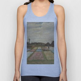 Vincent van Gogh Flower Beds in Holland c. 1883 Painting Unisex Tank Top