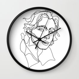 Timothée Chalamet Wall Clock