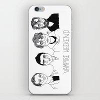 vampire weekend iPhone & iPod Skins featuring Vampire Weekend by ☿ cactei ☿