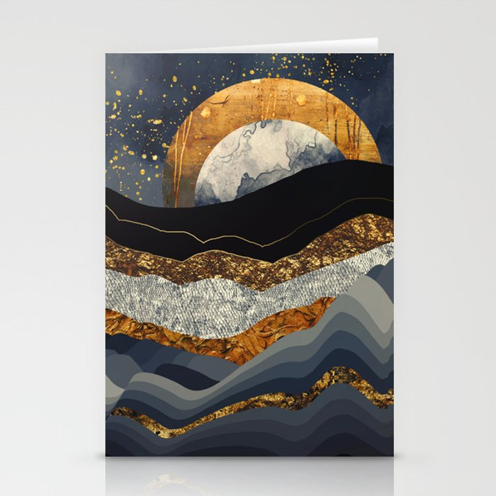 Metallic Mountains Stationery Cards