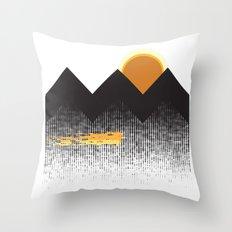 Sun Mountain Throw Pillow