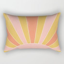 yellow and pink abstract sunrise Rectangular Pillow