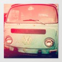 volkswagon Canvas Prints featuring VW Love. by Jennifer DeBarros