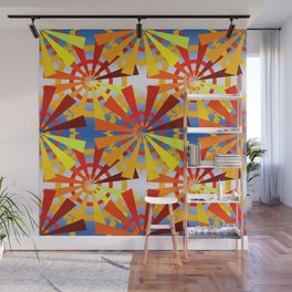colorful gear wheels Wall Mural