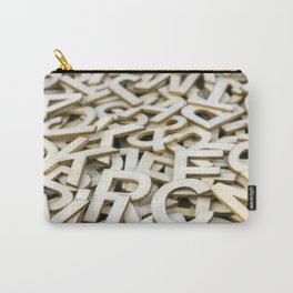 Pile of Mixed Wooden Letters Close Up Carry-All Pouch