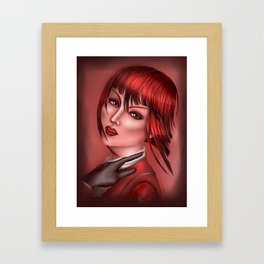 Madame in Red Framed Art Print