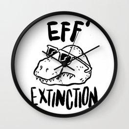 Eff' Extinction Wall Clock