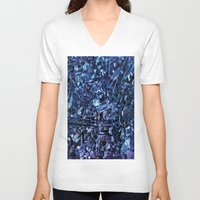 glass V-neck T-shirts featuring glass by silverylizard