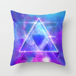 Space Vector 3 - Synth Galactic Vaporwave Throw Pillow