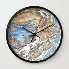 Woody Silver Wall Clock
