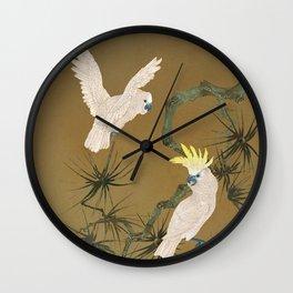 Wild Cockatoos Wall Clock