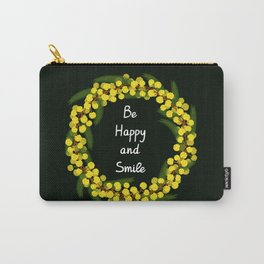 Be Happy and Smile Carry-All Pouch