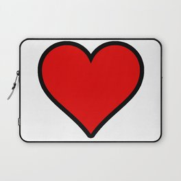 Heart Shape Digital Illustration, Modern Artwork Laptop Sleeve