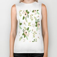 flower pattern Biker Tanks featuring Flower Pattern by Jenna Davis Designs