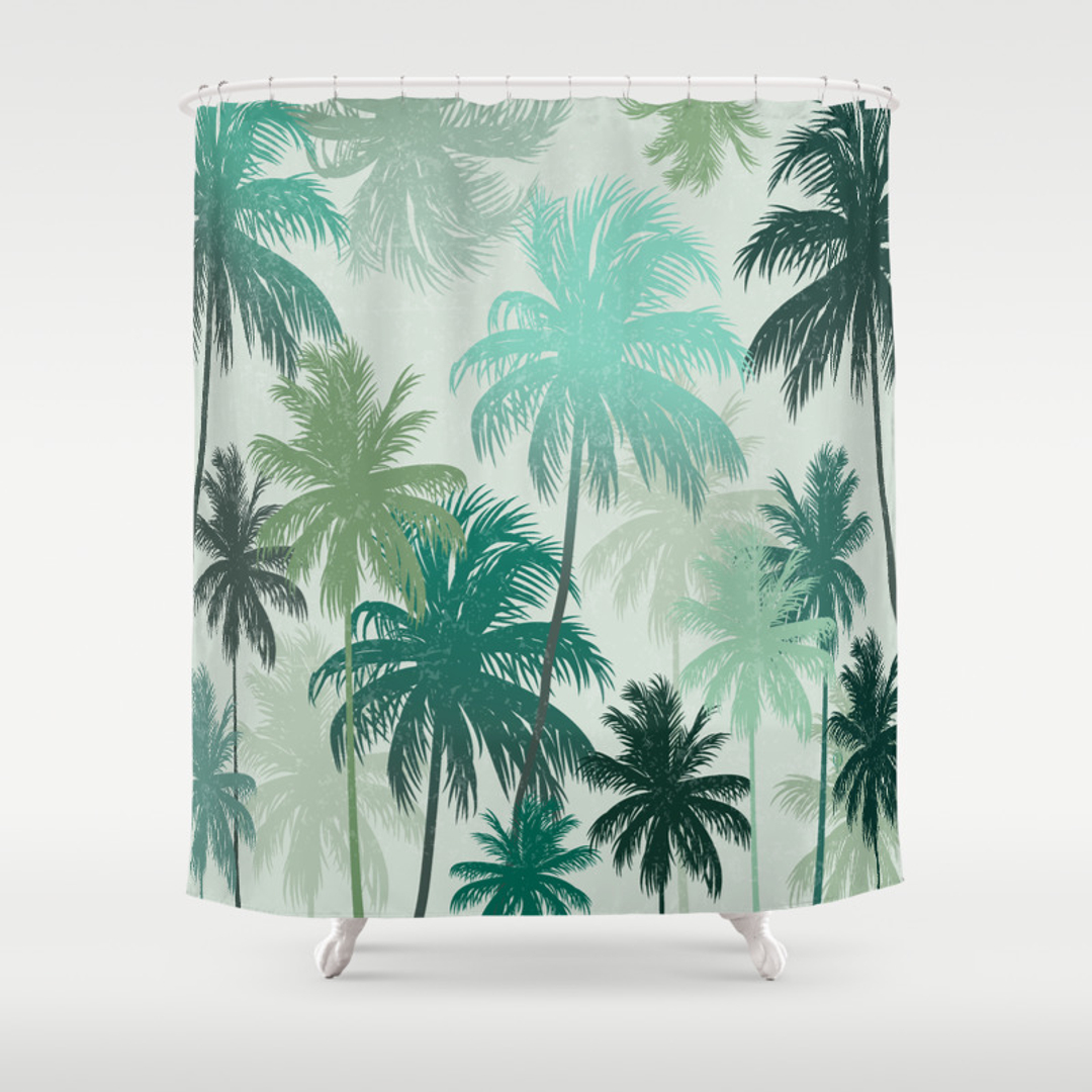 Palm shower curtain - Palm Shower Curtain 43