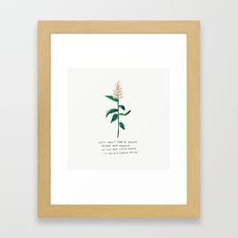 These Aren't Tears of Sadness Cuz You're Leavin Me Peachy Pink Flower Illustration Not Crying Lyrics Framed Art Print