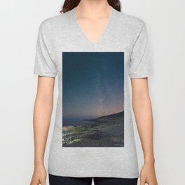 The Milky Way over Duncan's Cove Unisex V-Neck