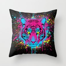 CMYKitty Throw Pillow