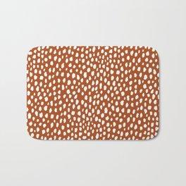 Burnt Orange Spots (white/burnt orange) Bath Mat