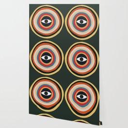 Third Eye Retro Colors Circle Wallpaper