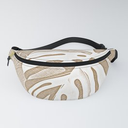 Peaceful Rainforest - Tropical Leaves Beige Fanny Pack