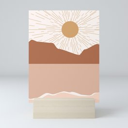 Sunrise Blush Beach Mini Art Print