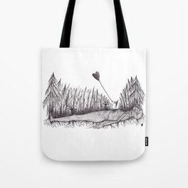 The Heart Is Blown Upon The Breeze Tote Bag