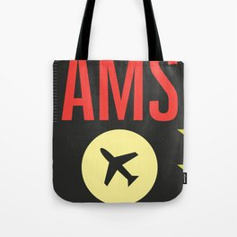 AMS Amsterdam Schiphol Airport sticker ff Tote Bag