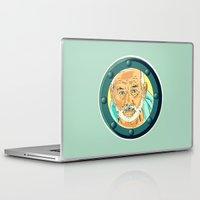 steve zissou Laptop & iPad Skins featuring Bill Murray Porthole - Steve Zissou by AdrienneD