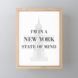 New York State of Mind #1 Framed Mini Art Print