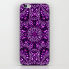 Magenta Fractal Kaleidoscope 2 iPhone & iPod Skin